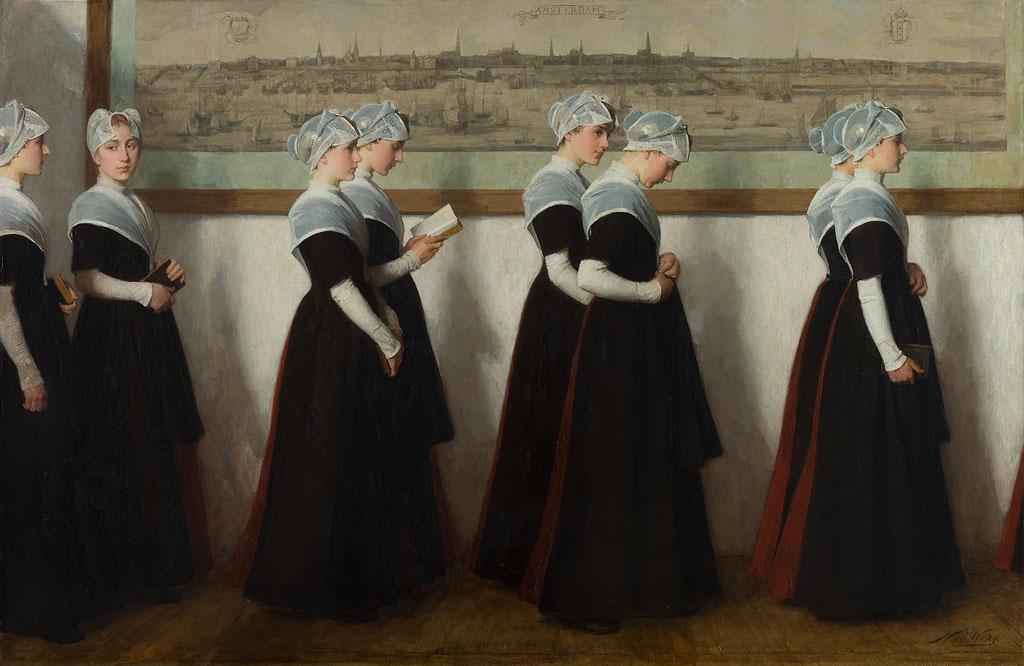 Amsterdam Orphan Girls, Van der Waay, Amsterdam Museum, Public Domain