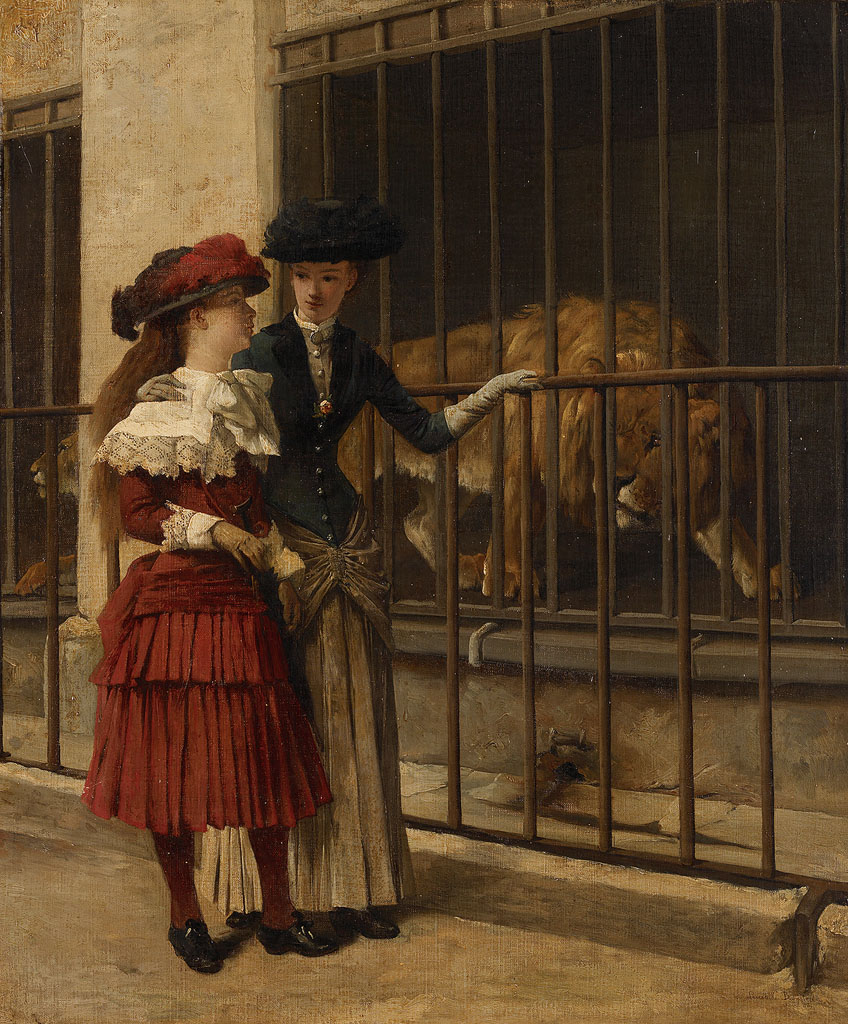 Visit in the Zoo, Bombled, Amsterdam Museum, Public Domain