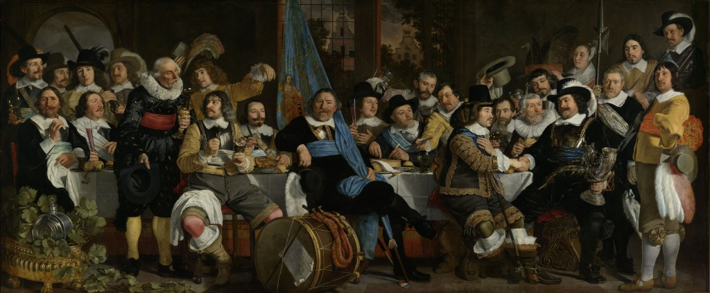 Banquet of the Amsterdam Civic Guard, van der Helst, Rijksmuseum, Public Domain