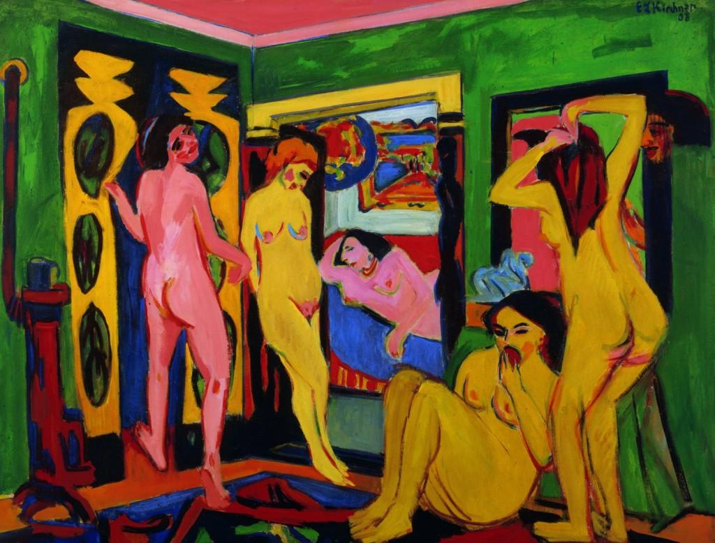 Ernst Ludwig Kirchner, Badende im Raum, Saarlandmuseum, CC-BY