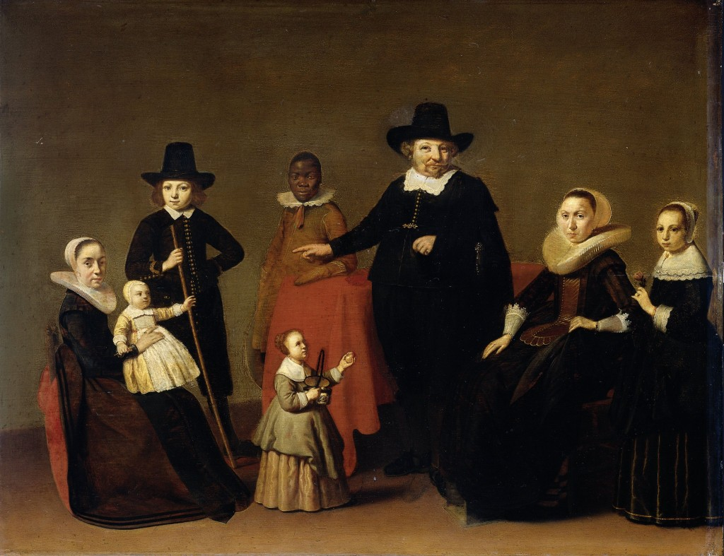 Family Portrait with Black Man, Willem Duyster, Rijksmuseum, Public Domain