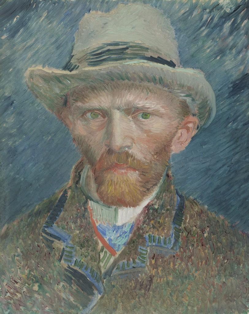 Self-portrait Vincent van Gogh 1887, Rijksmuseum, Public Domain