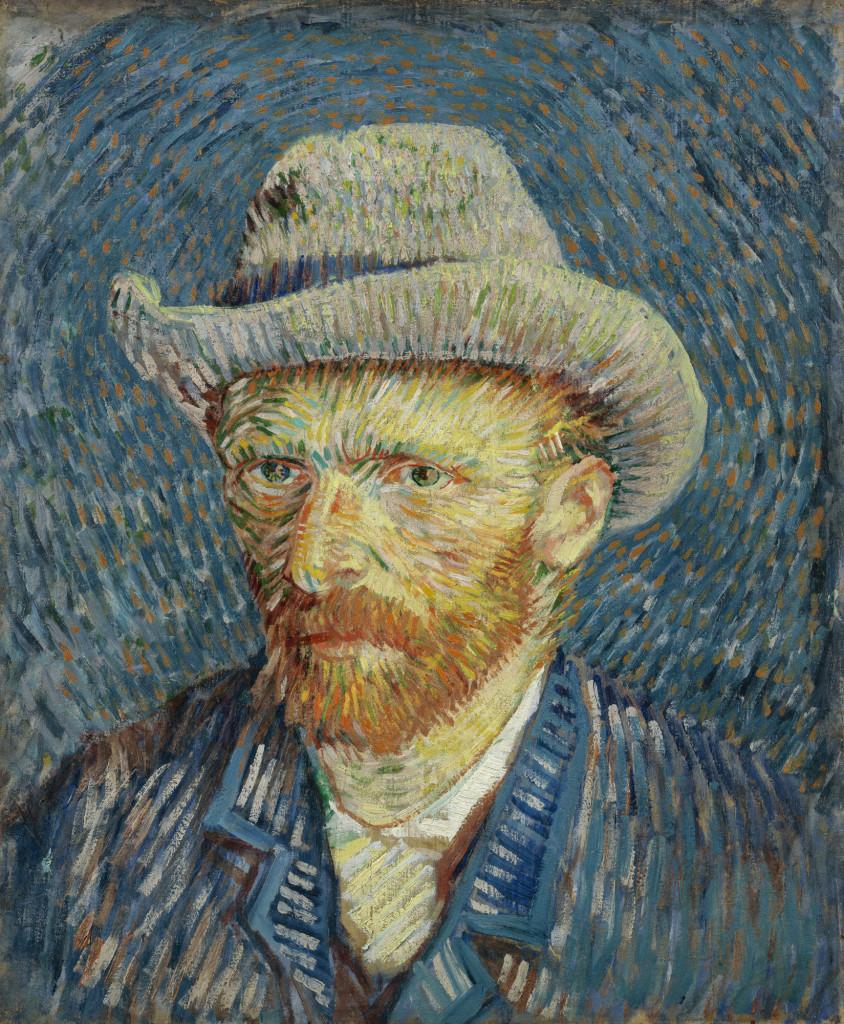 Self-portrait with grey felt hat, Vincent van Gogh, Van Gogh Museum CC-BY