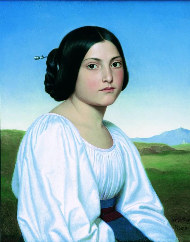 Portait of a young italian woman, Settegast, Simeonstift CC-BY