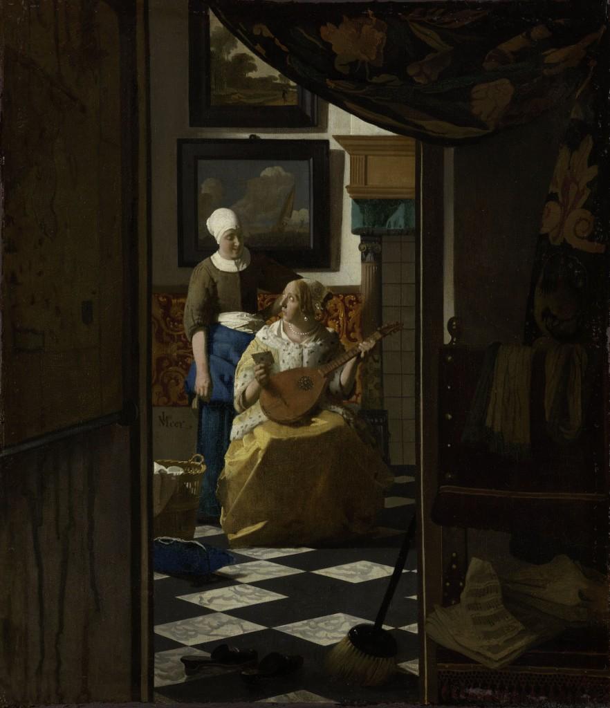 The Loveletter, Vermeer, Rijksmuseum, CC-BY