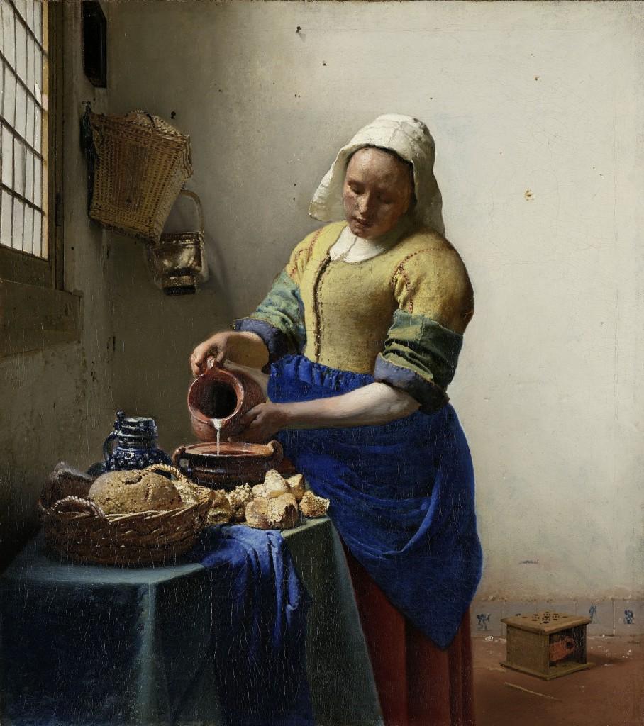 The Milkmaid, Jan Vermeer, Rijksmuseum CC-BY