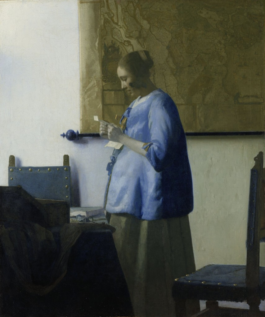 Woman in Blue Reading a Letter, Vermeer, Rijksmuseum Amsterdam