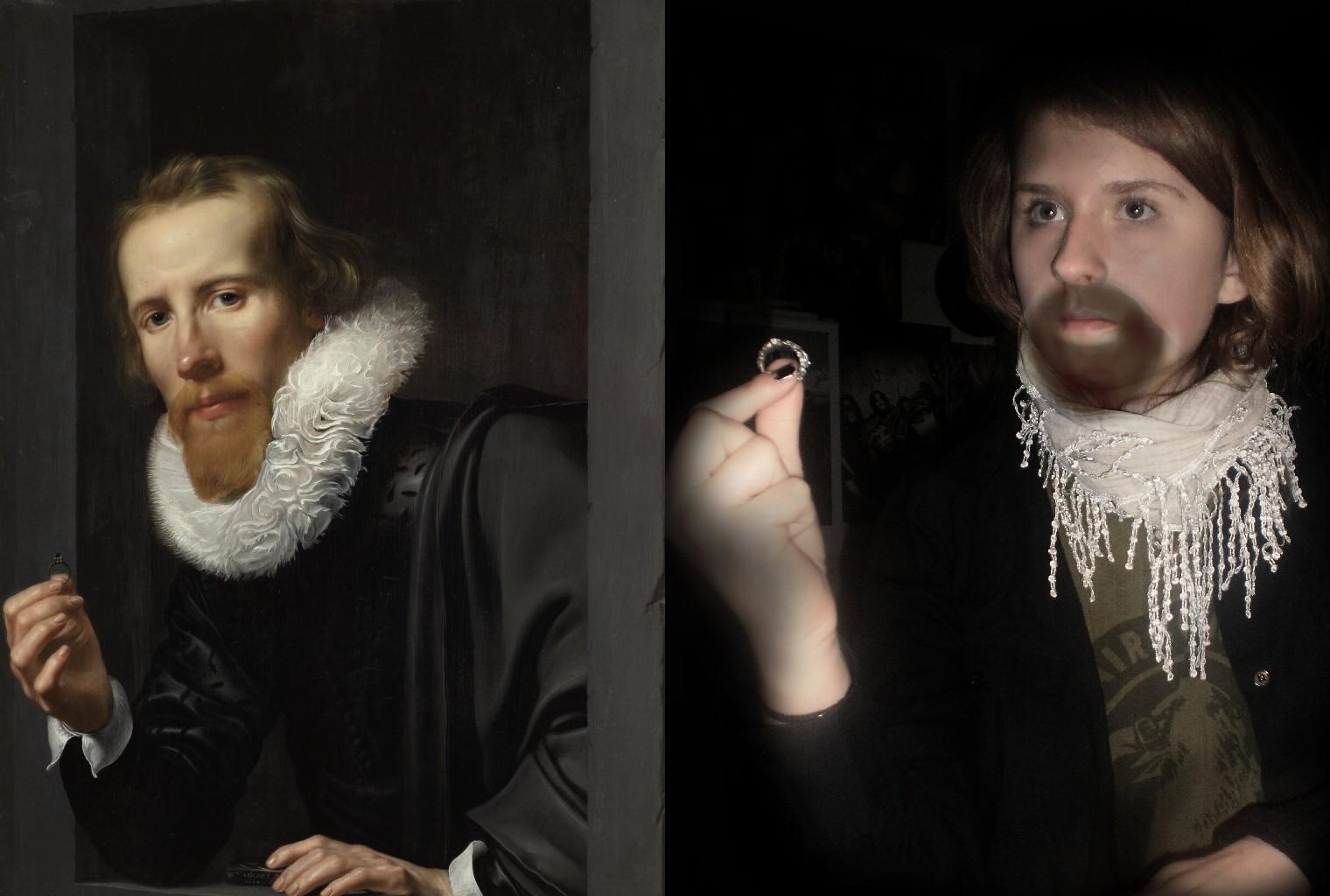 Portrait of a Goldsmith, Werner van den Valckert (1585-after 1635) vanGo'd by Kaja