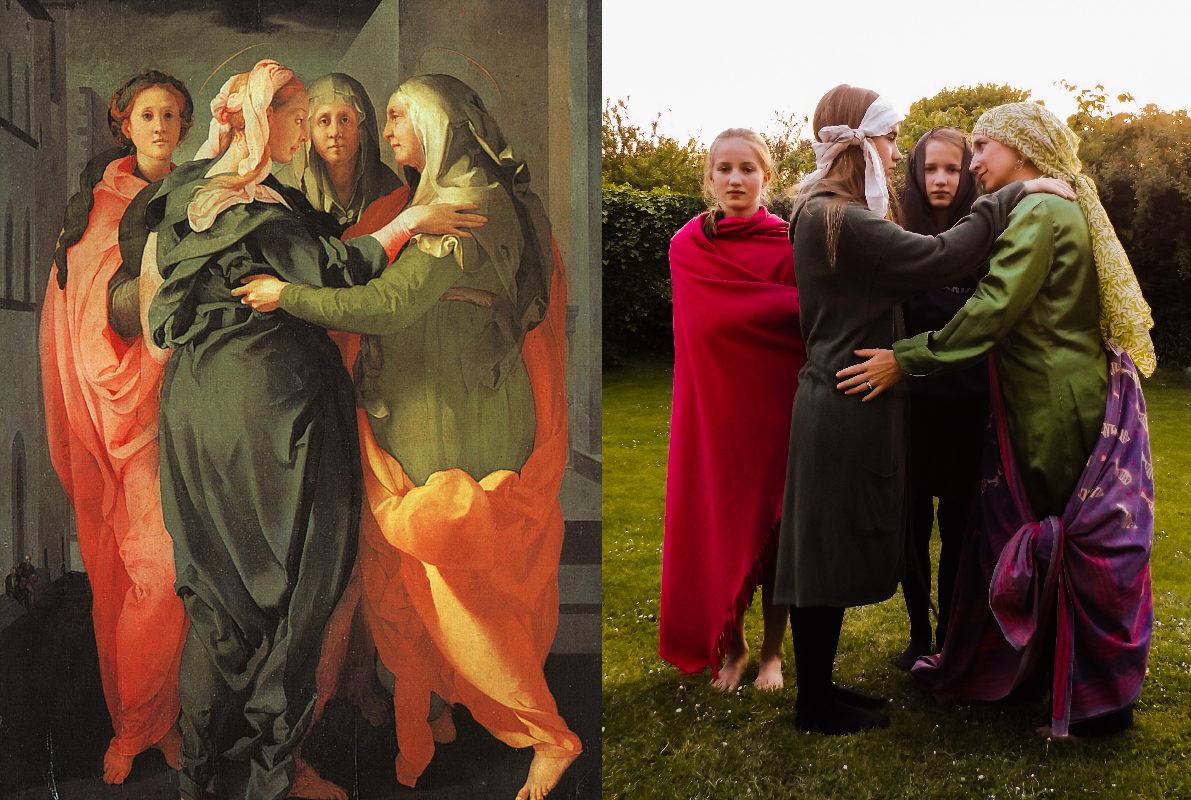 The Visitation, Jacopo da Pontormo (1494-1557) vanGo'd by Anra