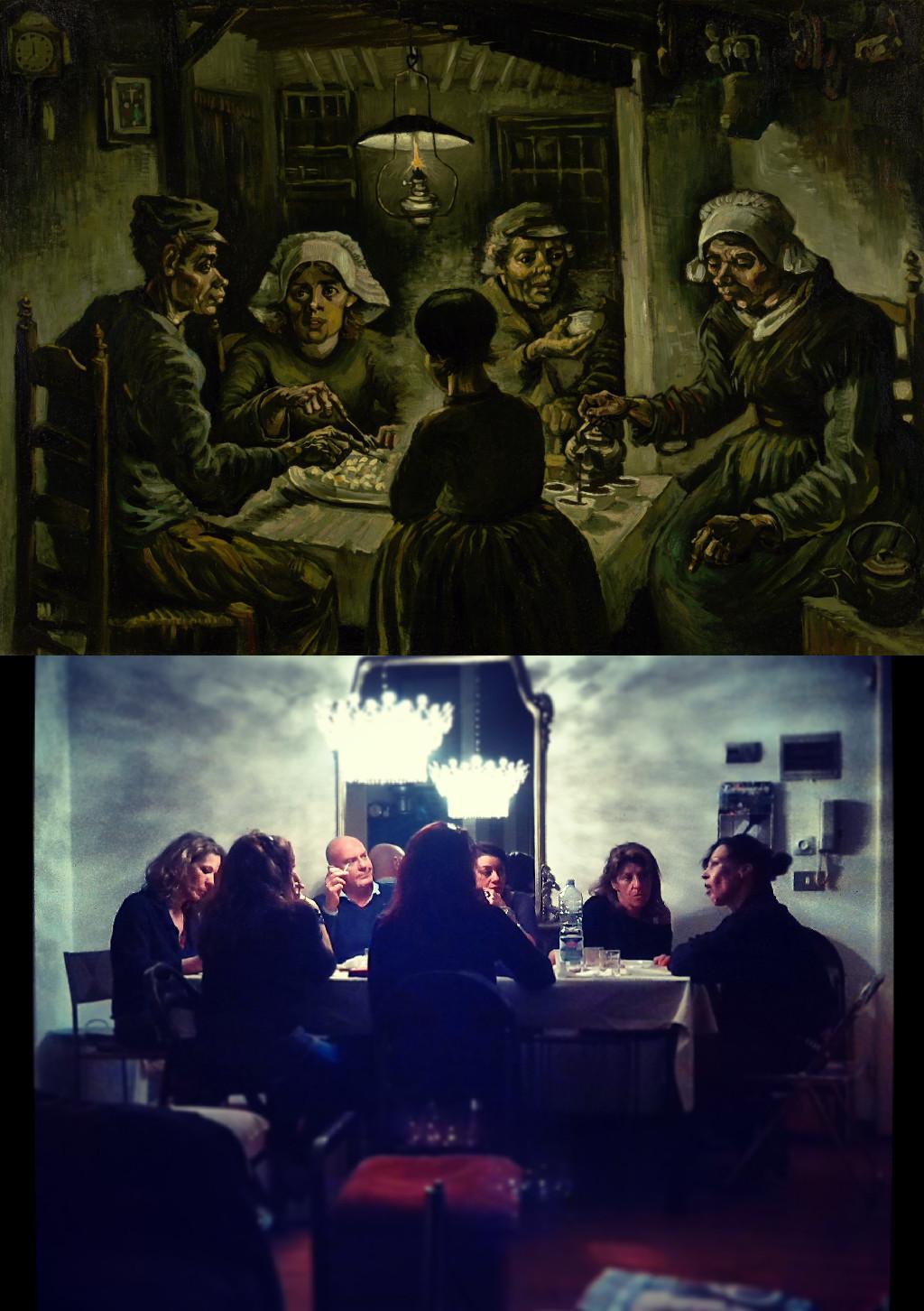 The Potato Eaters, Vincent van Gogh (1853-1890) vanGo'd by Federico Forconi