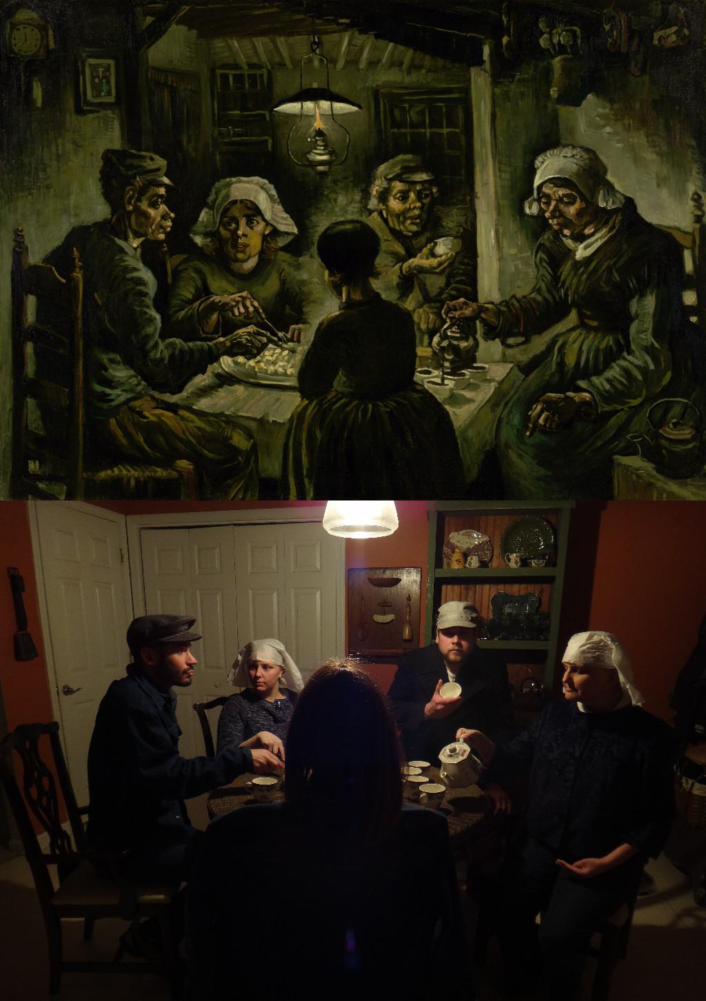 The Potato Eaters, Vincent van Gogh (1853-1890) vanGo'd by carl jordan