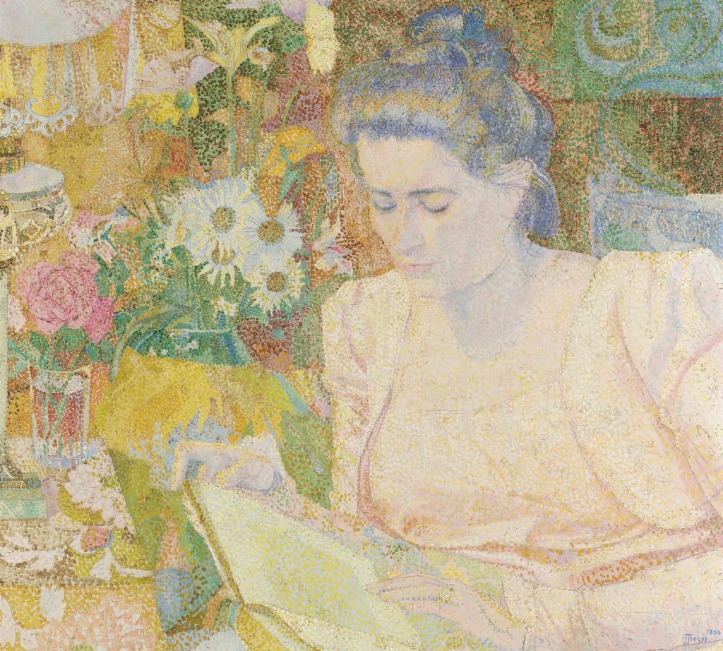 Portrait of Marie Jeanette de Lange, Jan Toorop, 1900, Rijksmuseum, Public Domain