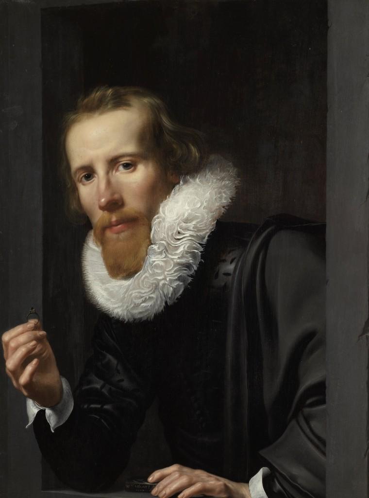 Portrait of a Goldsmith, Probably Bartholomeus Jansz van Assendelft, Werner van den Valckert, 1617, Rijksmuseum, Public Domain