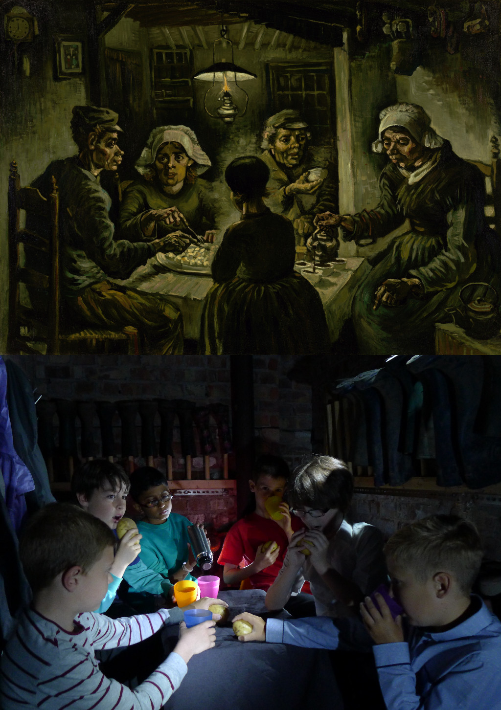 The Potato Eaters, Vincent van Gogh (1853-1890) vanGo'd by Eagley Junior School - Lewis, Cameron, Sachin, Luke, Caspar, Matthew
