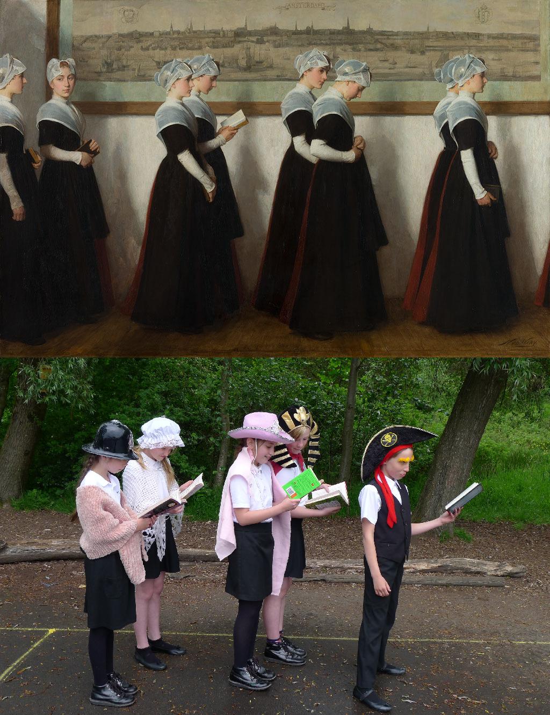 Amsterdam Orphan Girls, Nicolaas van der Waay (1855-1936)  vanGo'd by Eagley Junior School - Orla, Holly, Millie, Hannah & Niamh