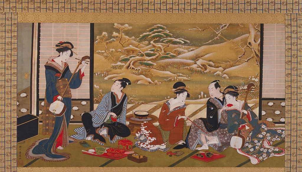 A Winter Party by Utagawa Toyoharu, Smithsonian Institution, CC-BY