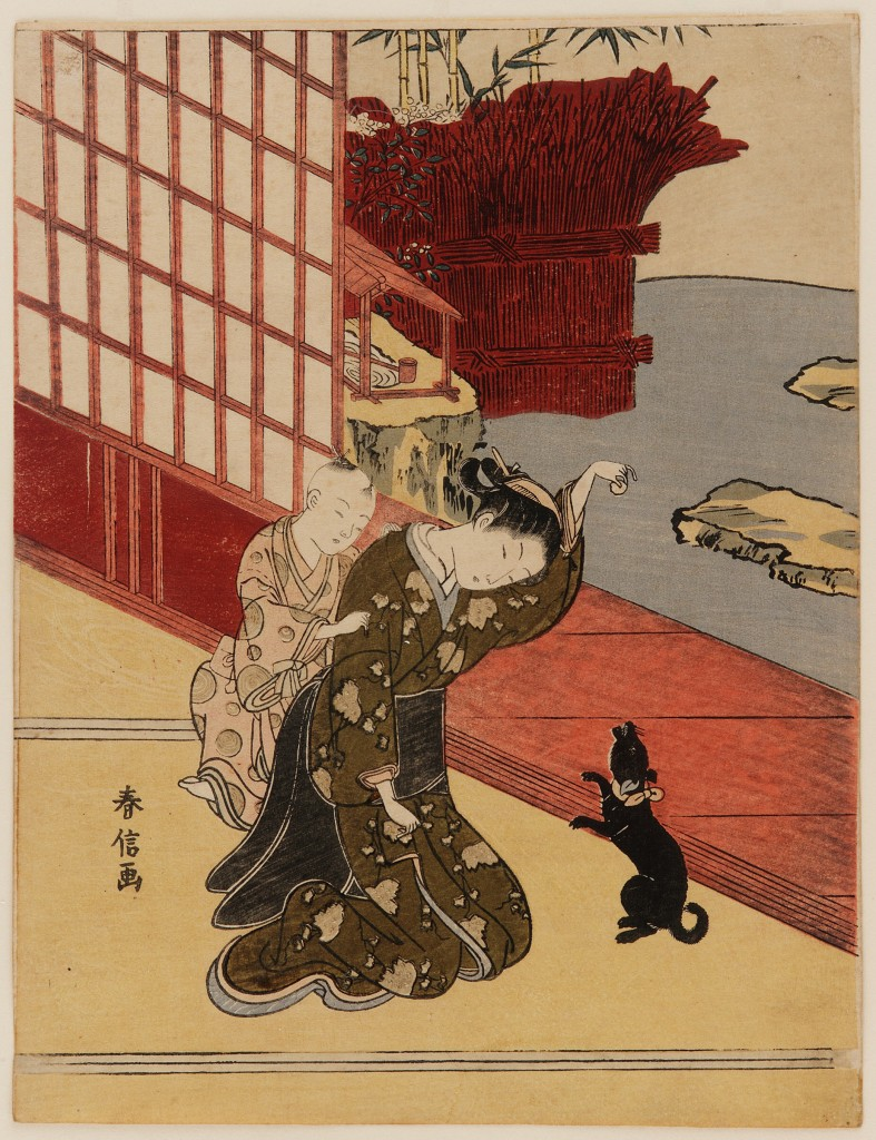 Woman with a Child and a Pet, by Suzuki Harunobu, Smithsonian Institution