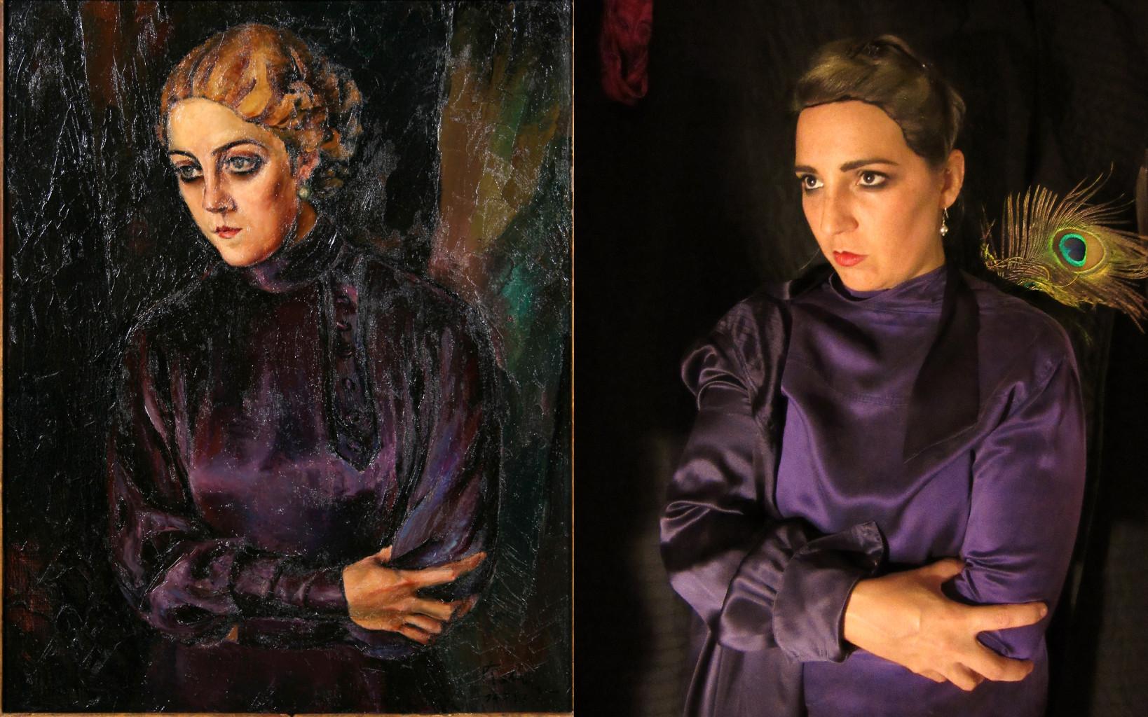 Portrait of a Woman with Smokey Eyes, Harry Rabinger (1895-1966) vanGo'd by Daniela Harris