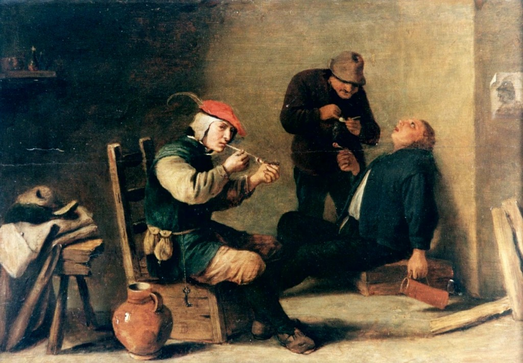 Three Smokers, David Teniers the Younger, Stadtmuseum Trier, CC-BY-SA