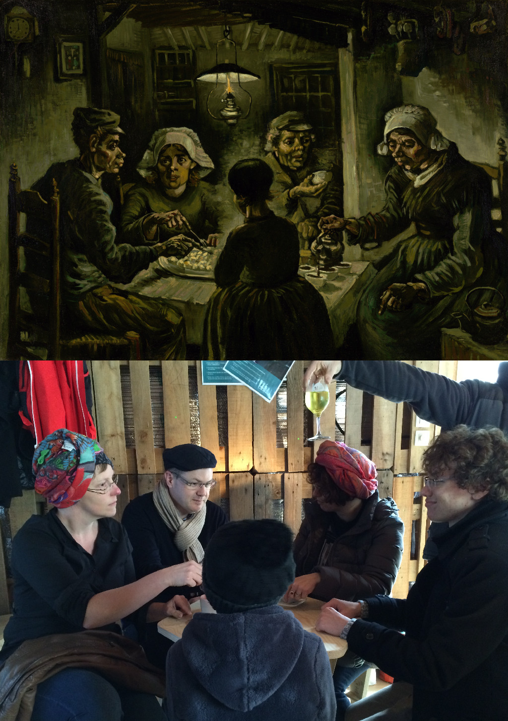 The Potato Eaters, Vincent van Gogh (1853-1890) vanGo'd by A modern family @Mons2015 Family Day