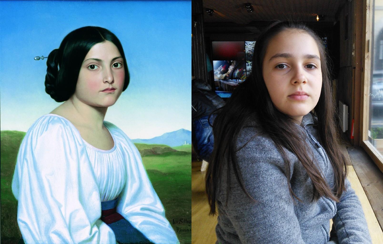 Portrait of a Young Italian Woman, Joseph Anton Nikolaus Settegast (1813–1890)   vanGo'd by severa