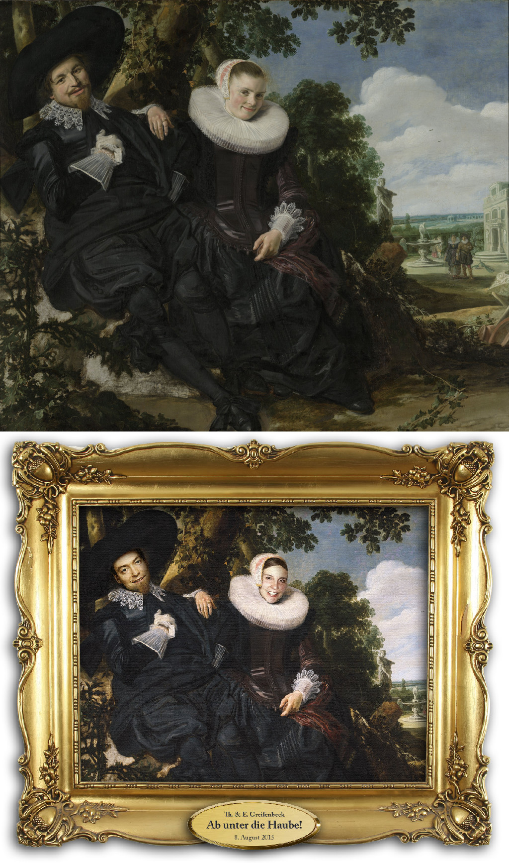 Portrait of a Couple, Probably Isaac Abrahamsz Massa and Beatrix van der Laen, Frans Hals (1580 - 1666) vanGo'd by Thomas
