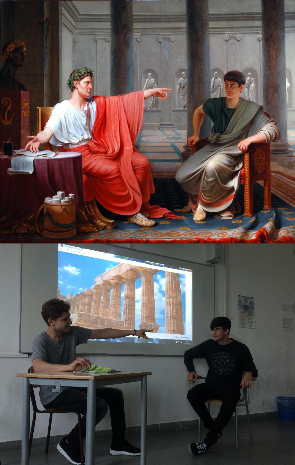 The Emperor Augustus Rebuking Cornelius Cinna for His Treachery, Étienne-Jean Delécluze vanGo'd by Cosmin and Marco