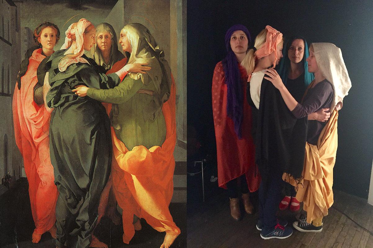 The Visitation, Jacopo da Pontormo (1494-1557) vanGo'd by Let's go digital