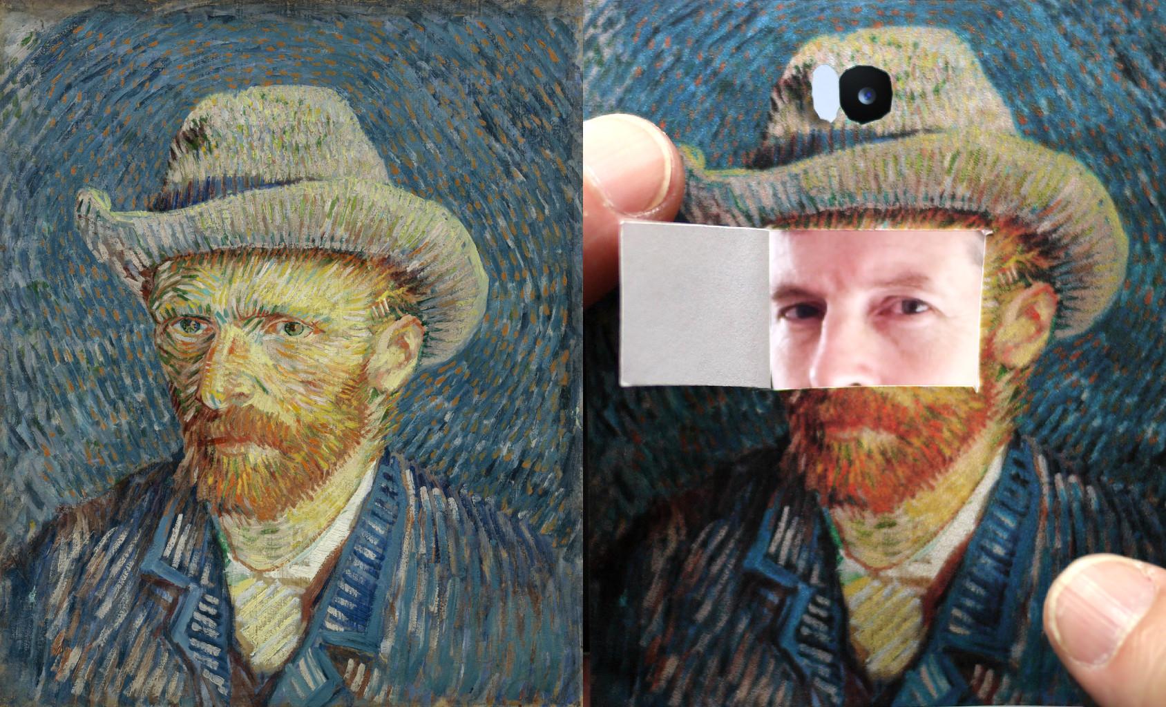 Self-Portrait with Grey Felt Hat, Vincent van Gogh (1853-1890) vanGo'd by Michael Edson