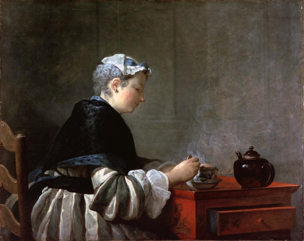 A-Lady-Taking-Tea