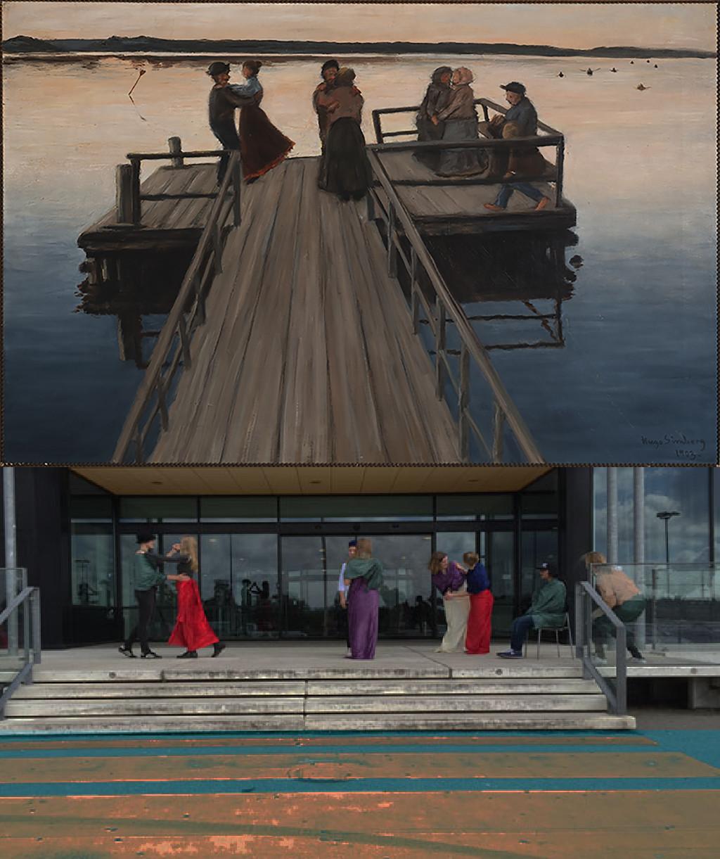 Dance on the Jetty, Hugo Simberg (1873 –1917) vanGo'd by Louise, Laura, Emma, Emma, Breshna, Sofie, Emilie, Johanne, Asta