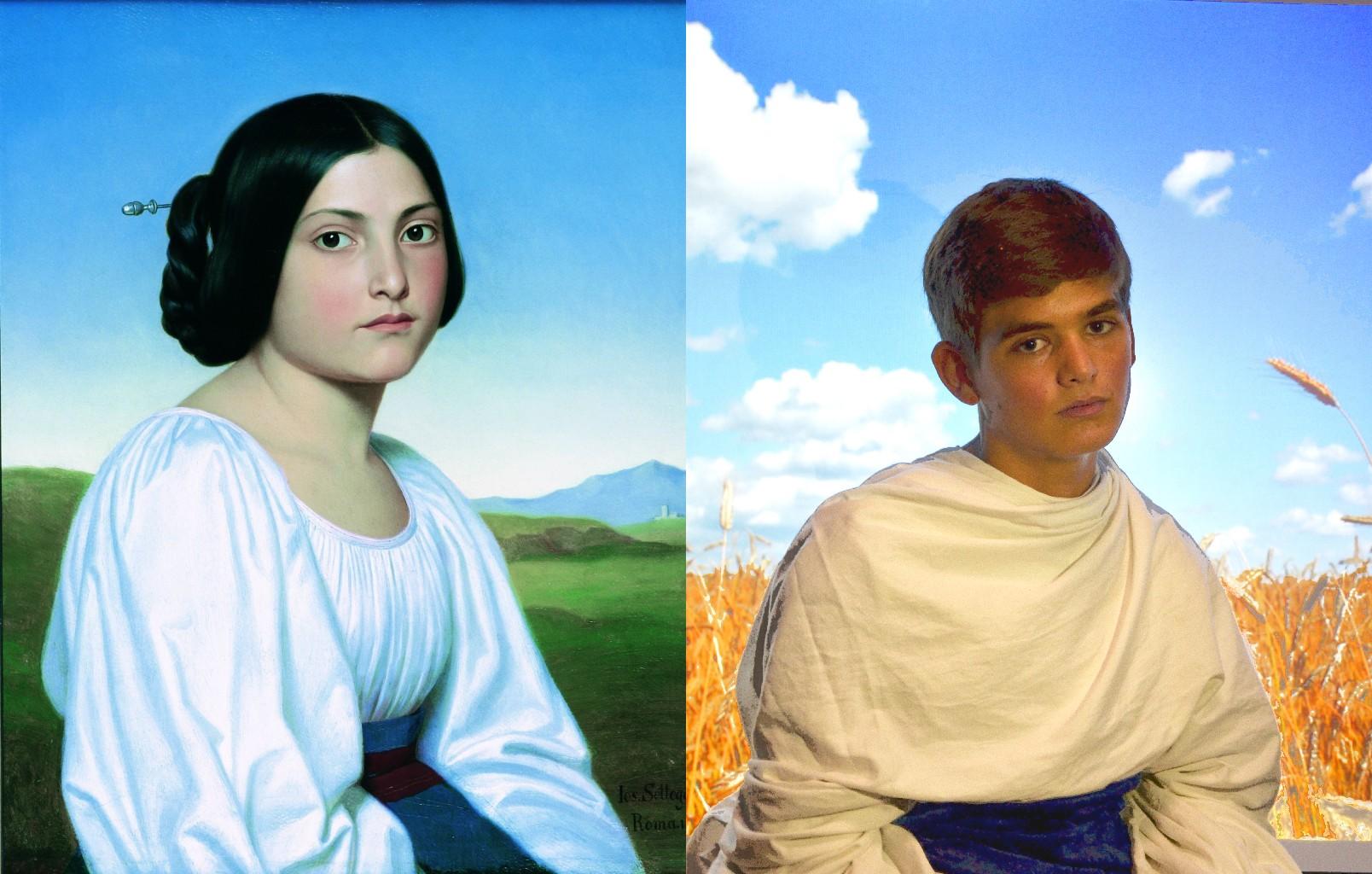 Portrait of a Young Italian Woman, Joseph Anton Nikolaus Settegast (1813–1890)   vanGo'd by Oskar, Josephine, Astrrid, Viktoria