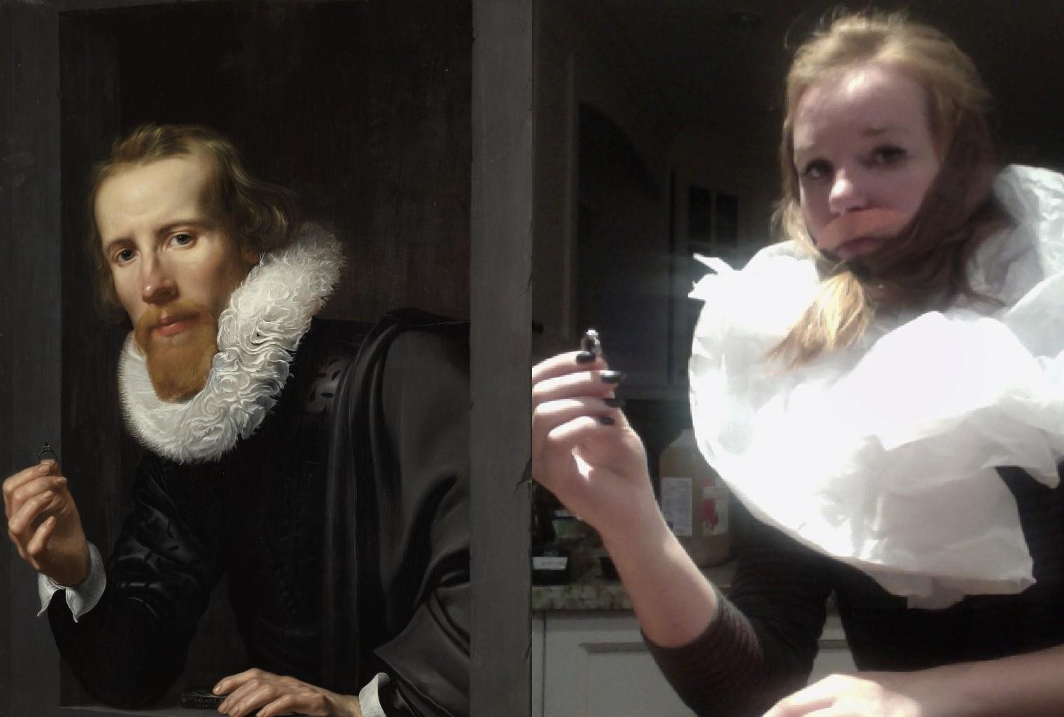 Portrait of a Goldsmith, Werner van den Valckert (1585-after 1635) vanGo'd by Grace Bird