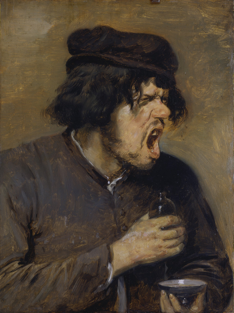Adriaen Brouwer (1605/06-1638) The Bitter Potion, 1636-1638 Oil on oak wood, 47,5 x 35,5 cm Städel Museum, Frankfurt am Main