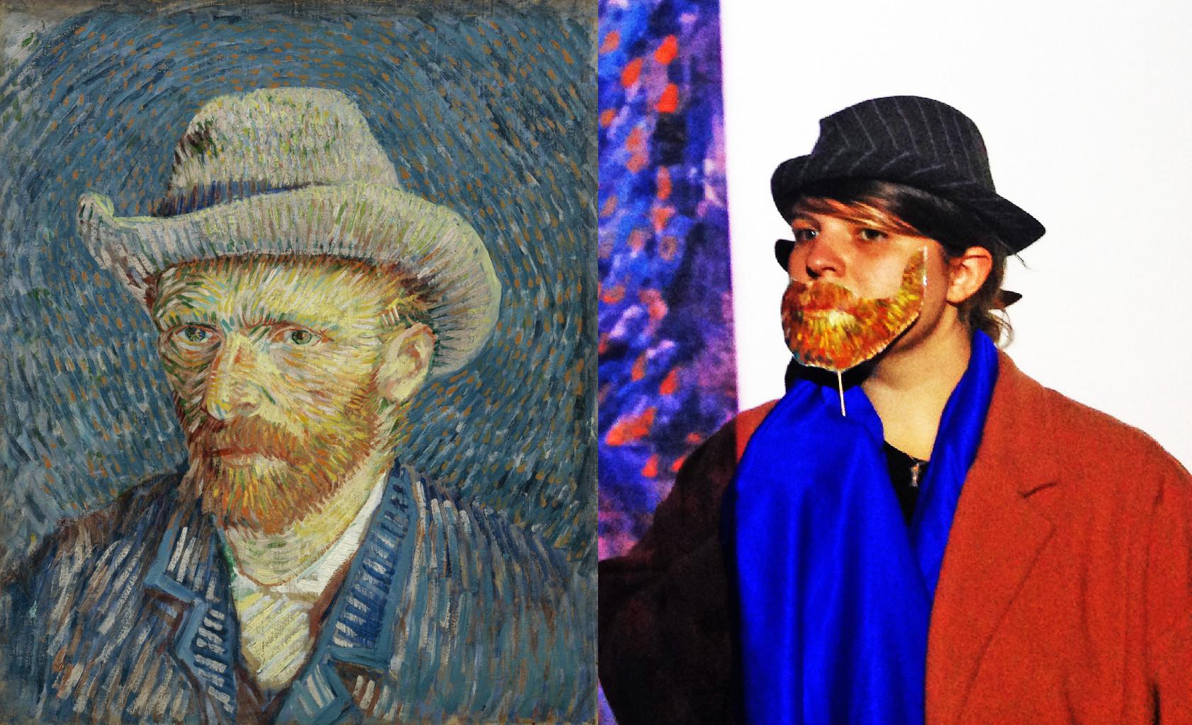Self-Portrait with Grey Felt Hat, Vincent van Gogh (1853-1890) vanGo'd by Eddie