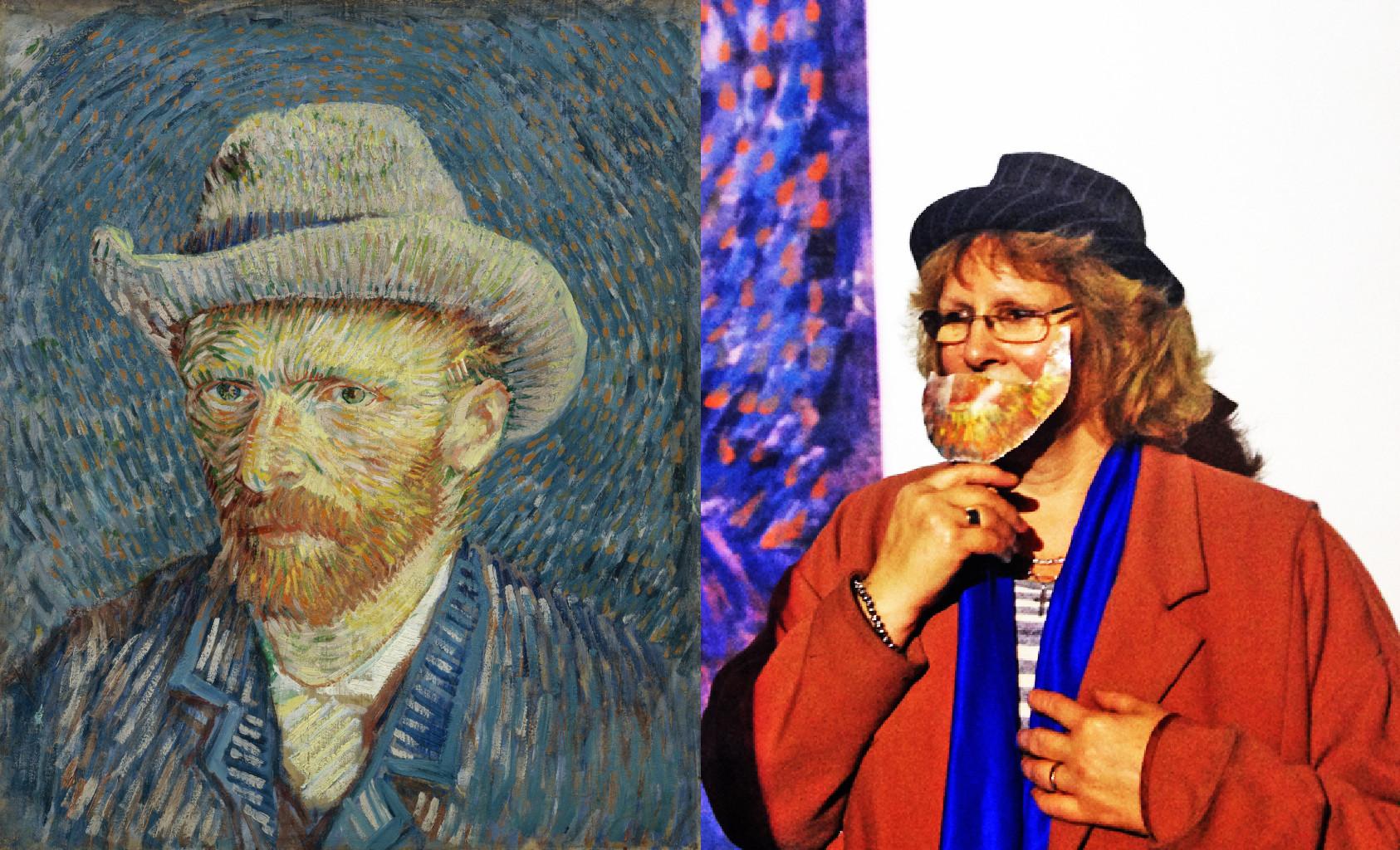 Self-Portrait with Grey Felt Hat, Vincent van Gogh (1853-1890) vanGo'd by Veronica