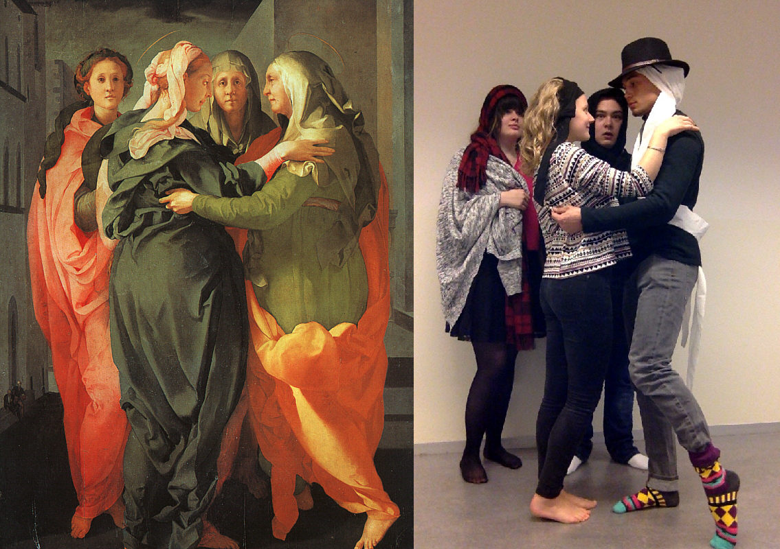 The Visitation, Jacopo da Pontormo (1494-1557) vanGo'd by Priscilla