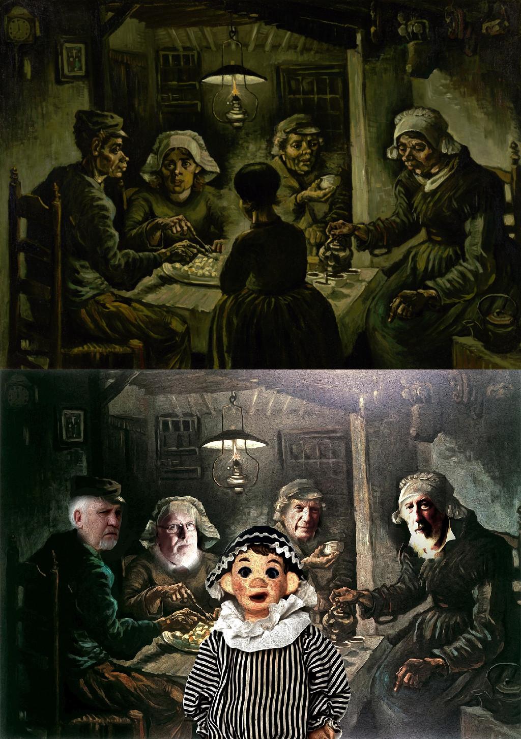 The Potato Eaters, Vincent van Gogh (1853-1890) vanGo'd by Gordon Coldwell