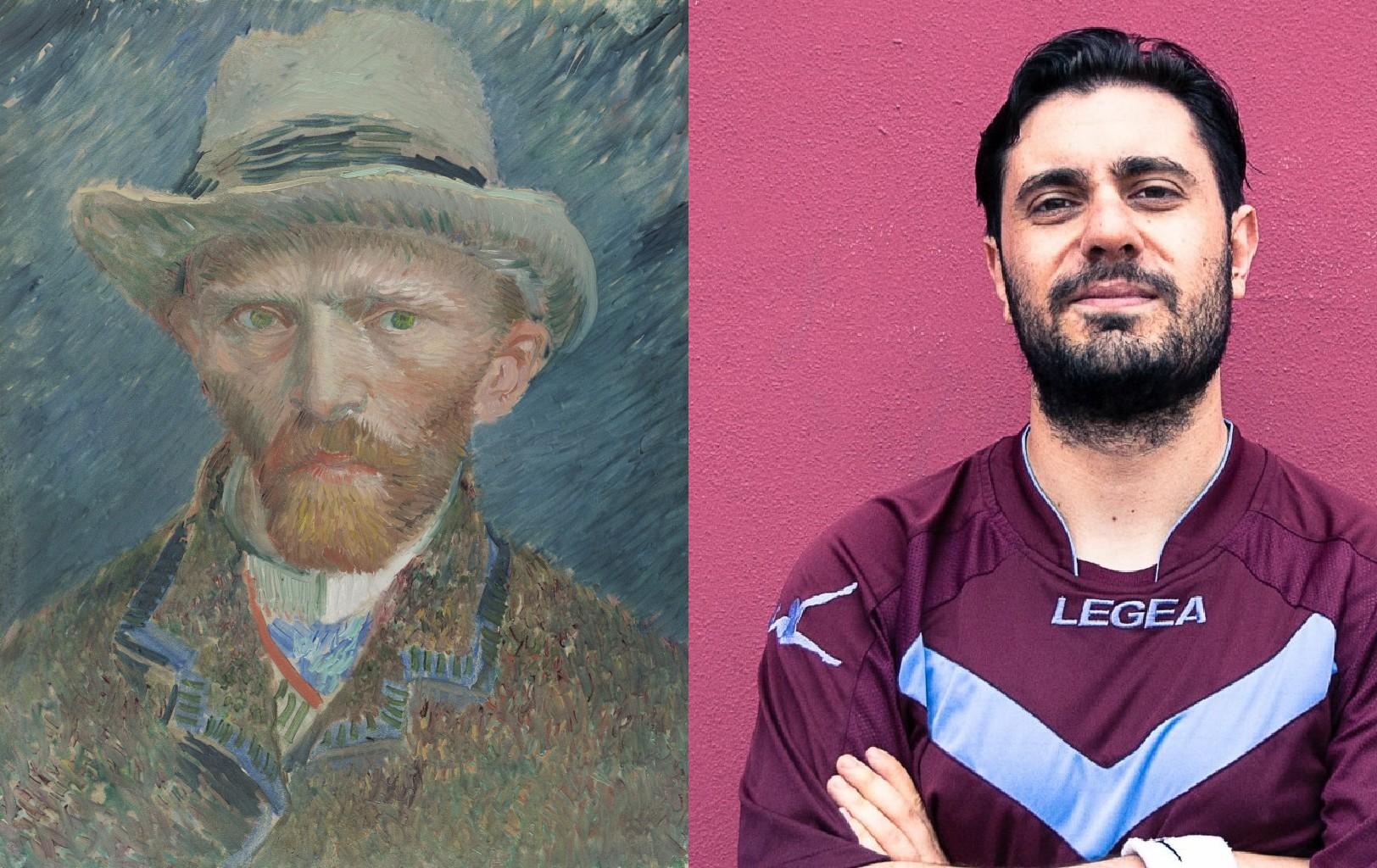 Van Gogh 1887 Self-Portrait, Vincent van Gogh (1853-1890) vanGo'd by Francis Van Ceruso