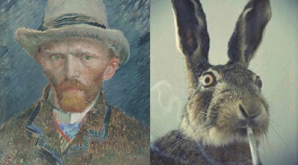 Van Gogh 1887 Self-Portrait, Vincent van Gogh (1853-1890) vanGo'd by gary