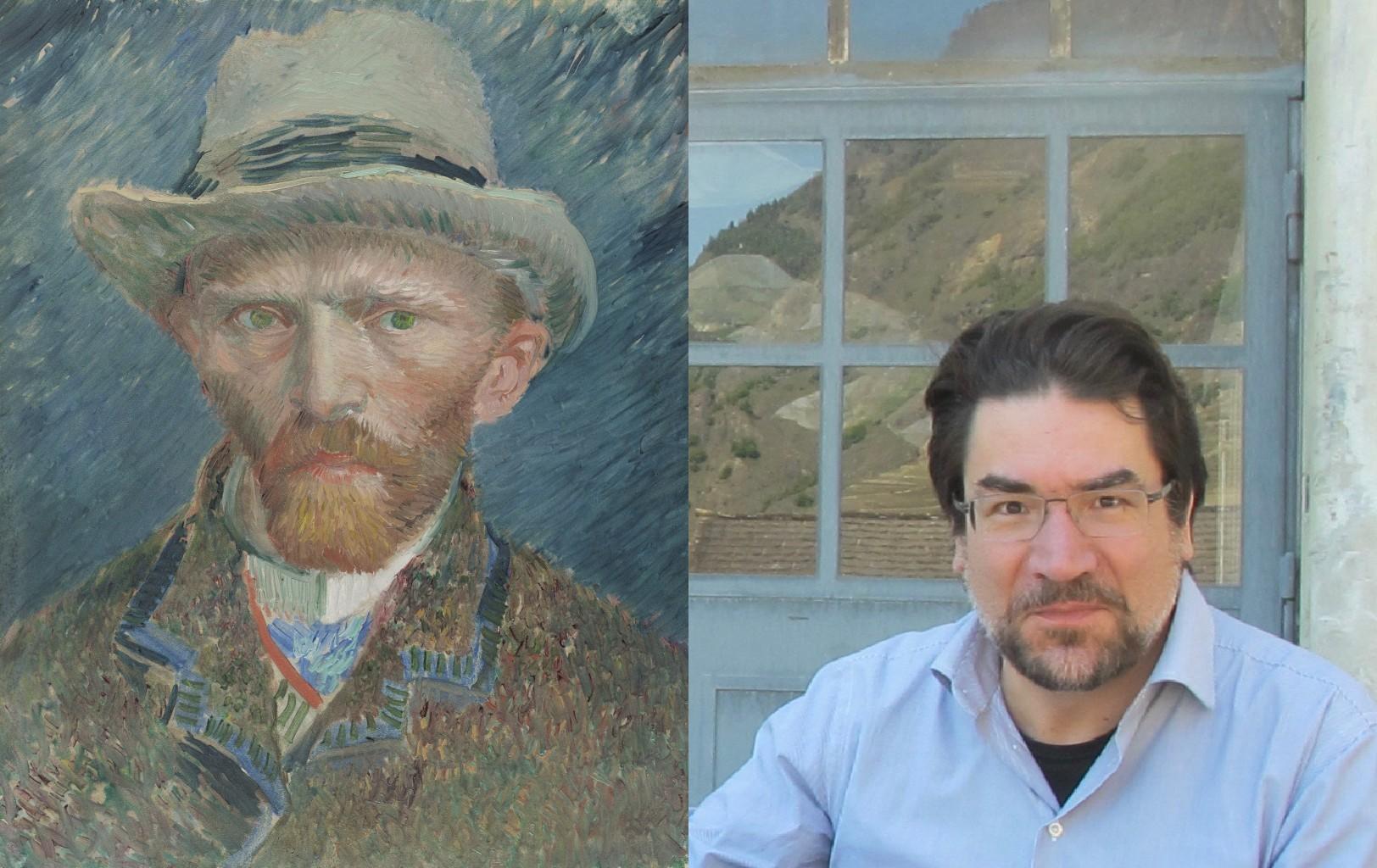 Van Gogh 1887 Self-Portrait, Vincent van Gogh (1853-1890) vanGo'd by Francois