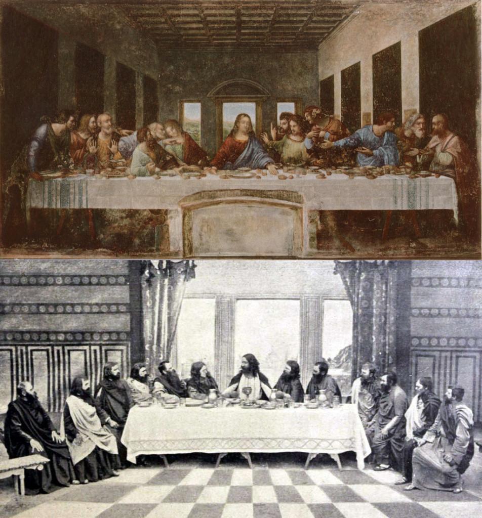 The Last Supper, Leonardo da Vinci (1452-1519) vanGo'd by ... Da Vinci Last Supper Original