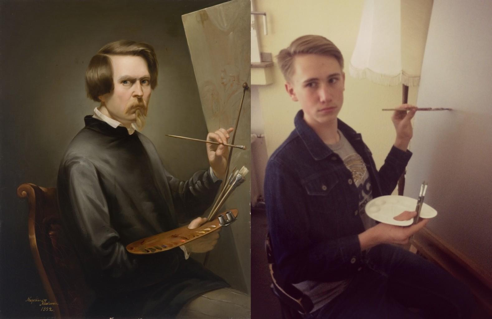 Self-portrait, Napoleon Iłłakowicz vanGo'd by Lenni