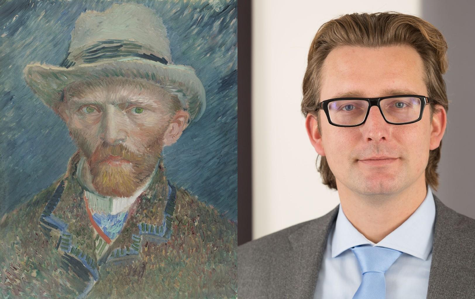 Van Gogh 1887 Self-Portrait, Vincent van Gogh (1853-1890) vanGo'd by Martin