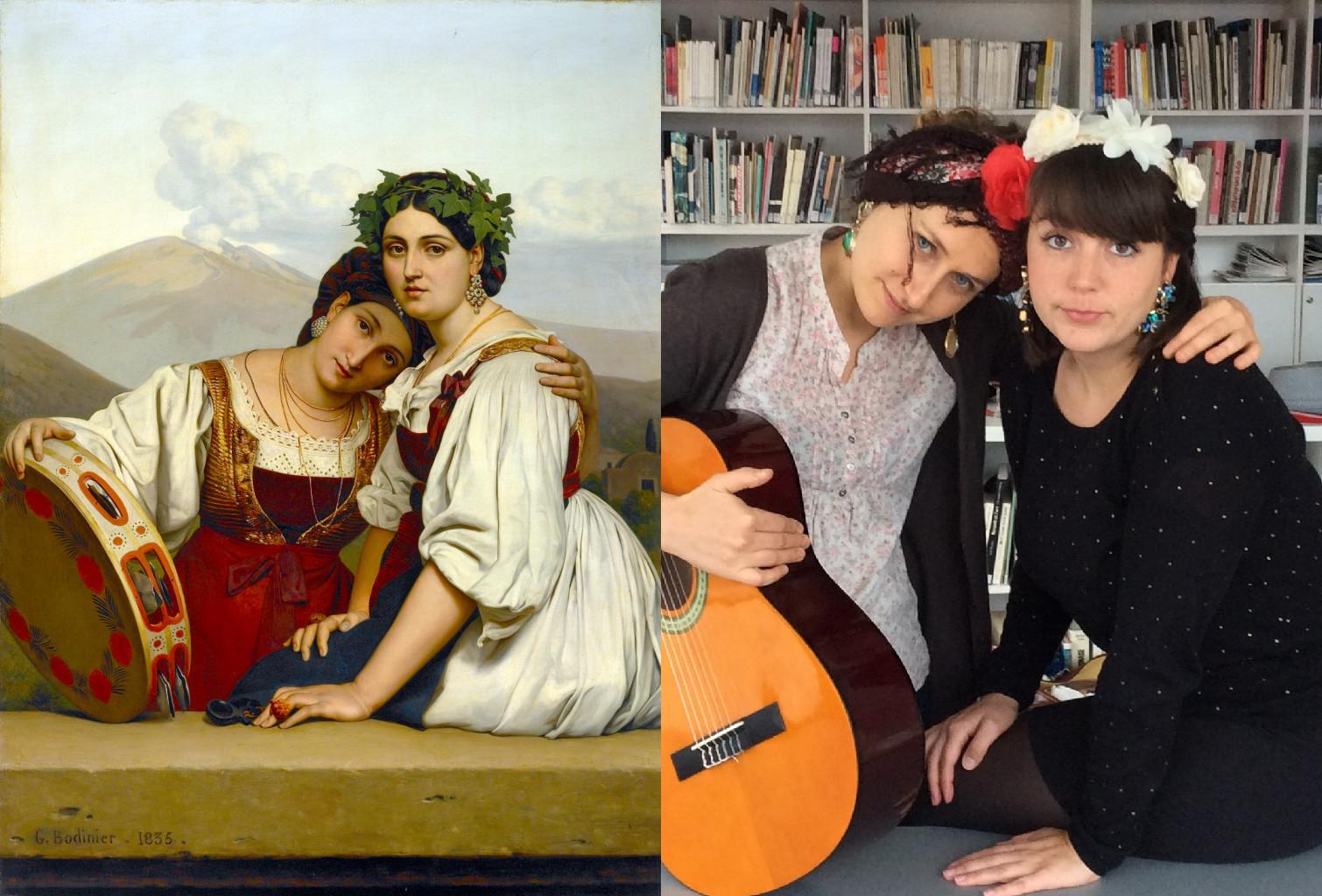 Two Women from Naples, Guillaume Bodinier (1795-1872) vanGo'd by technocité