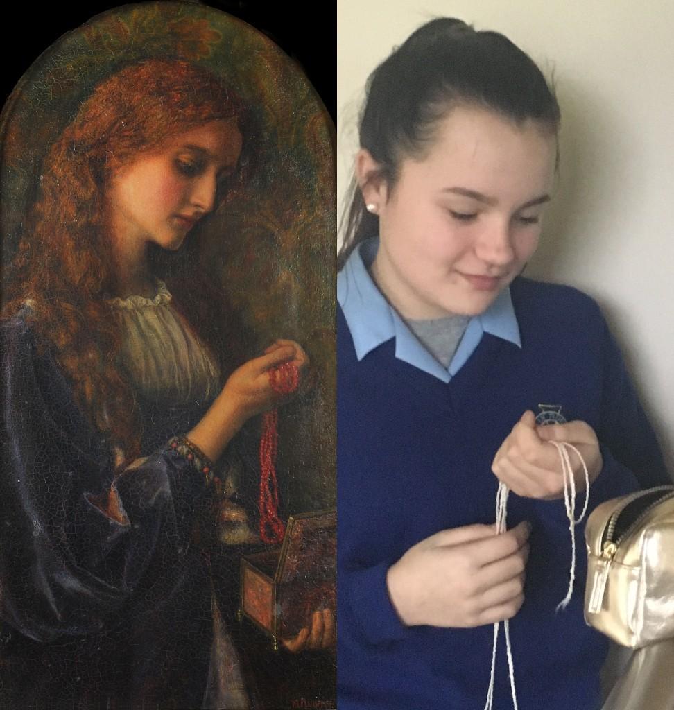 Madeleine, Arthur Hughes (1832–1915) vanGo'd by Emma,Abbie