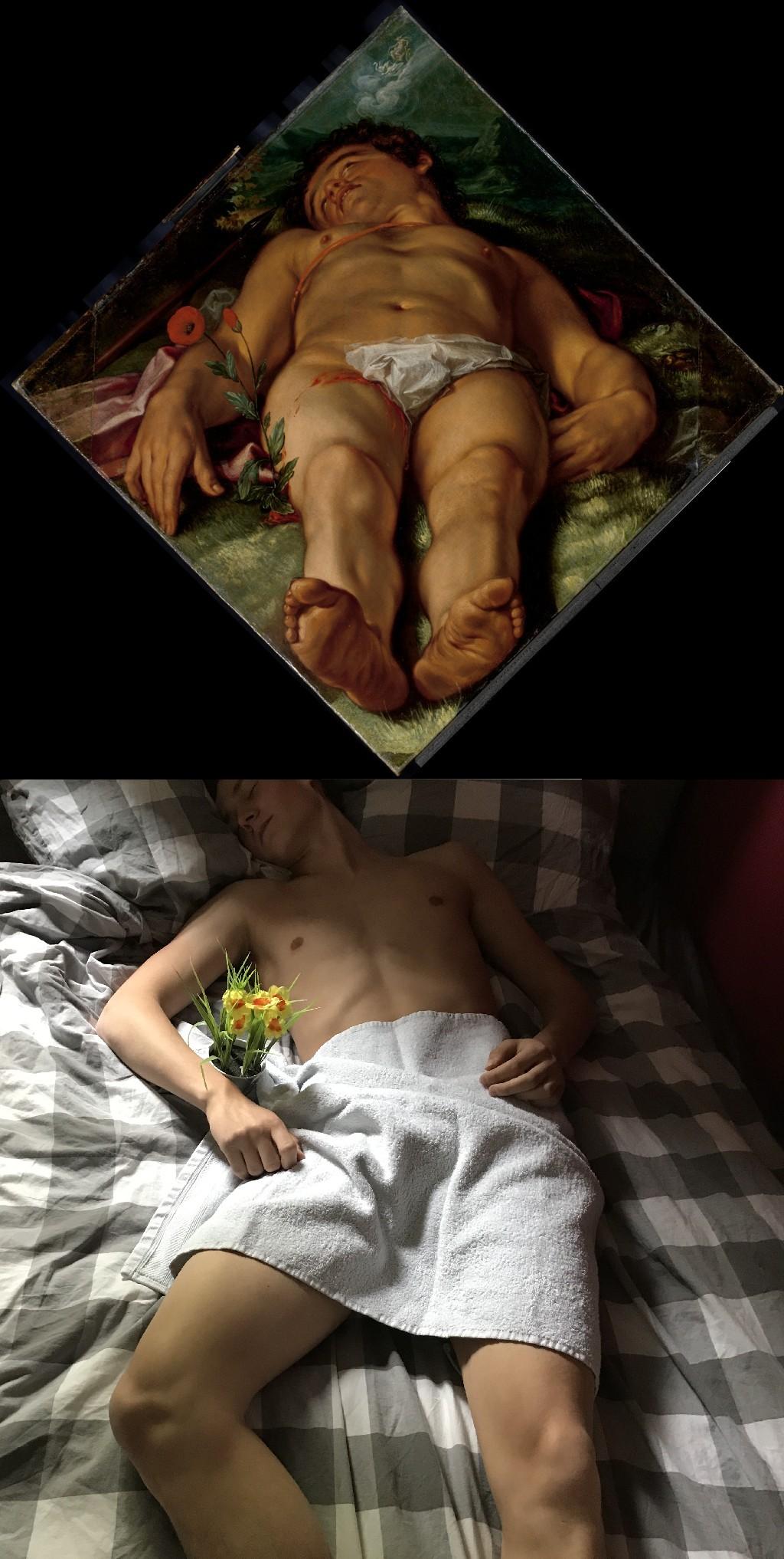 Dying Adonis, Hendrik Goltzius (1558-1617) vanGo'd by Michael Serneels