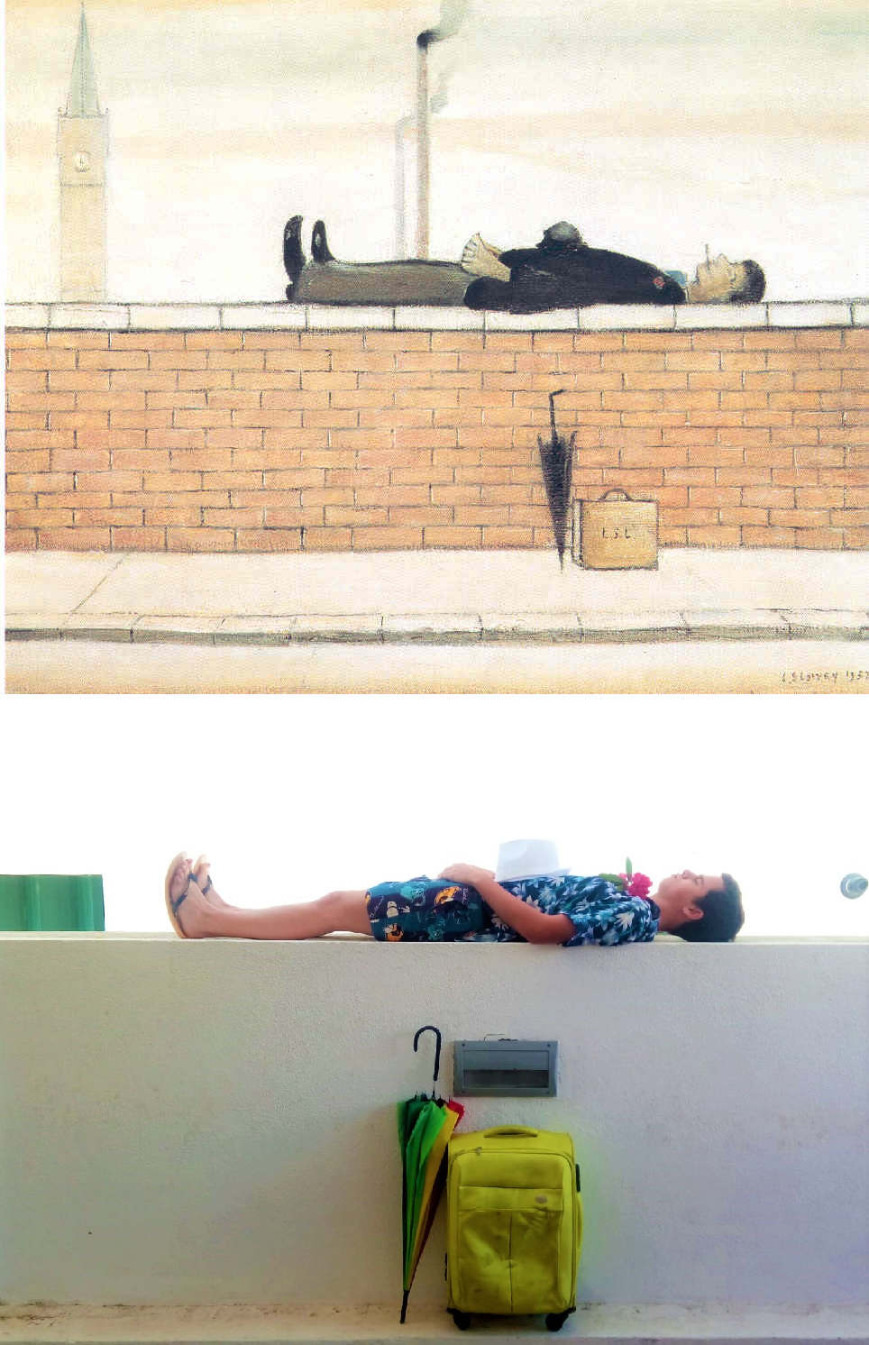 Animal Crossing Gay Porn Gif man lying on a wall, l s lowry (1887 – 1976) vango'dmaja